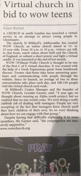 WOW Church Article
