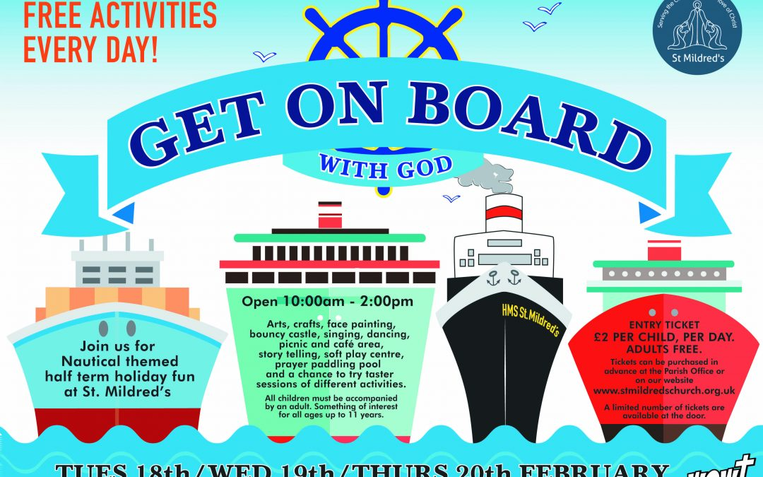 'Get on board with God'