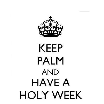 Palm Sunday  - flash-back!